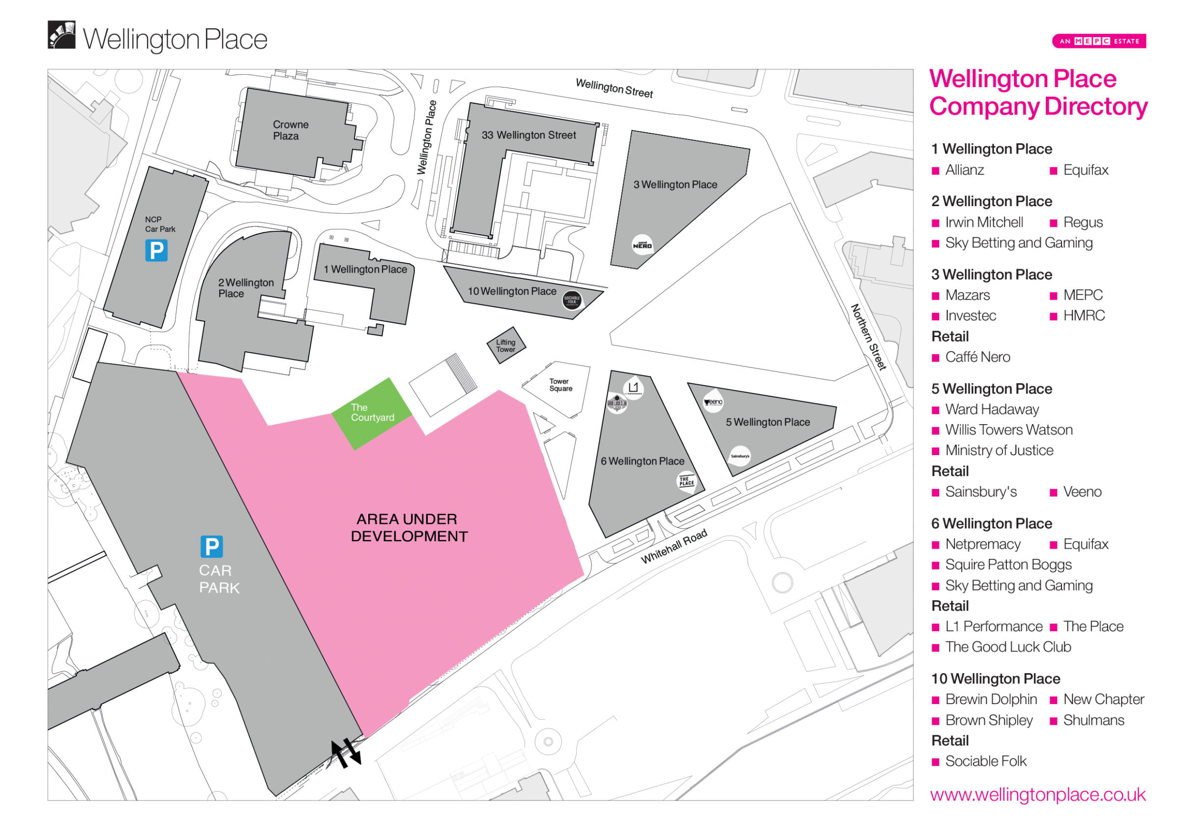 View the wellington place map